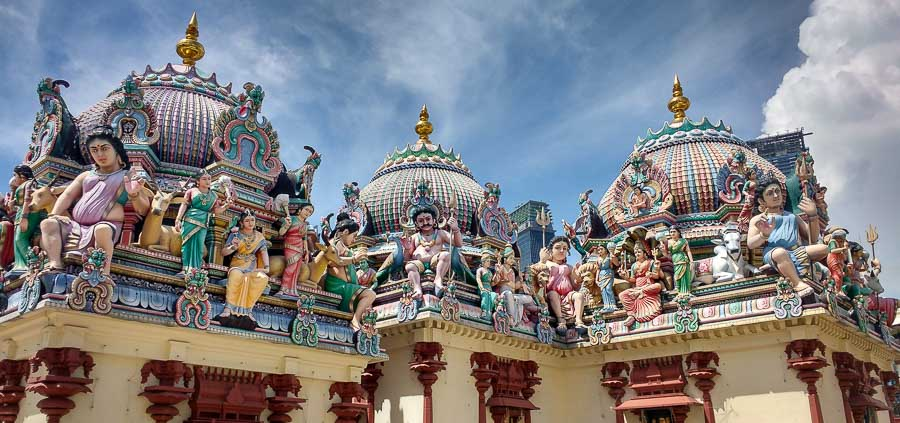 Singapore Interior domes of the Sri Mariamman Temple in two days