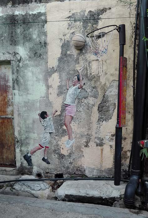 street art georgetown penang Malaysia street art painted murals