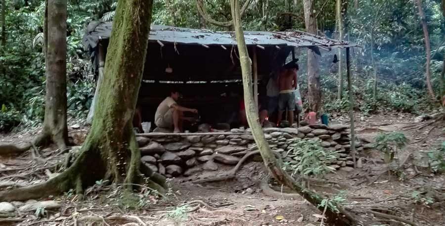 Kitchen cabin in the jungle camp of Bukit Lawang in Sumatra