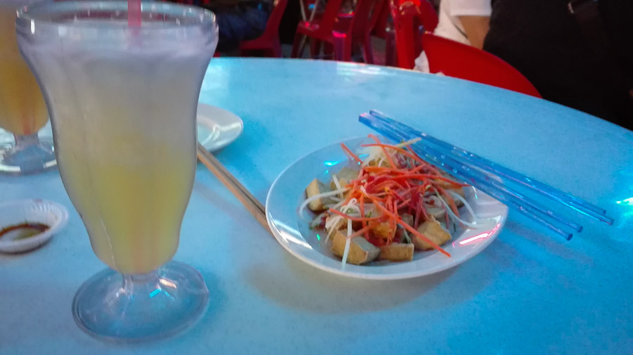 Melon Juice and Sweet and Sour Tofu at George Garden's Red Garden