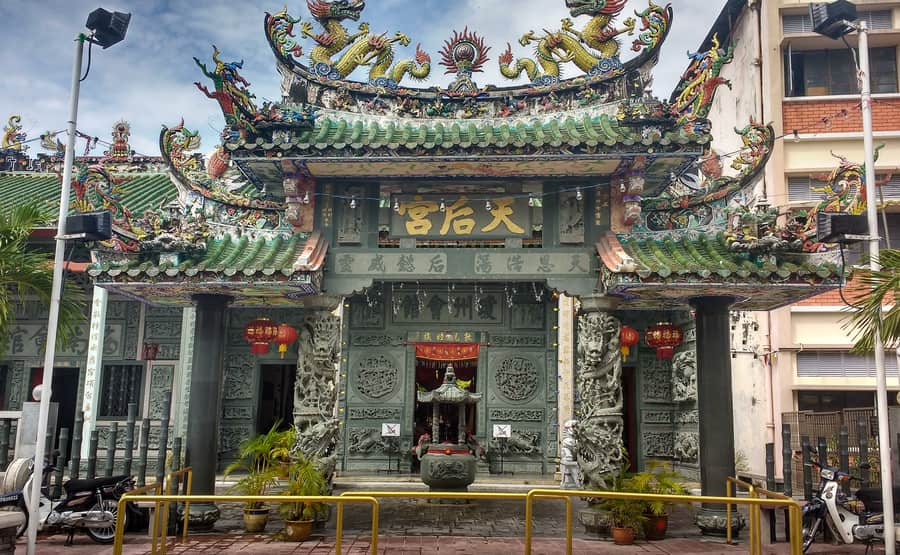 Hainan Temple. Temple located on street muntri in george town