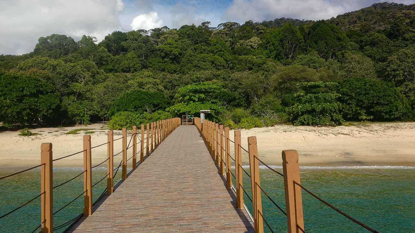 Pentai Kerachut from its pier (Penang National Park) Malaysia