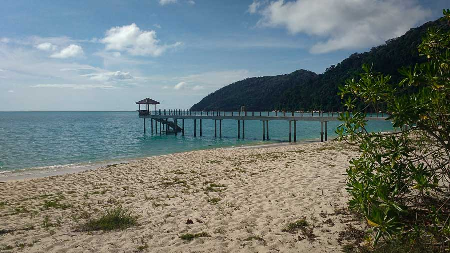 Pier at Pantai Kerachut (Penang National Park)
