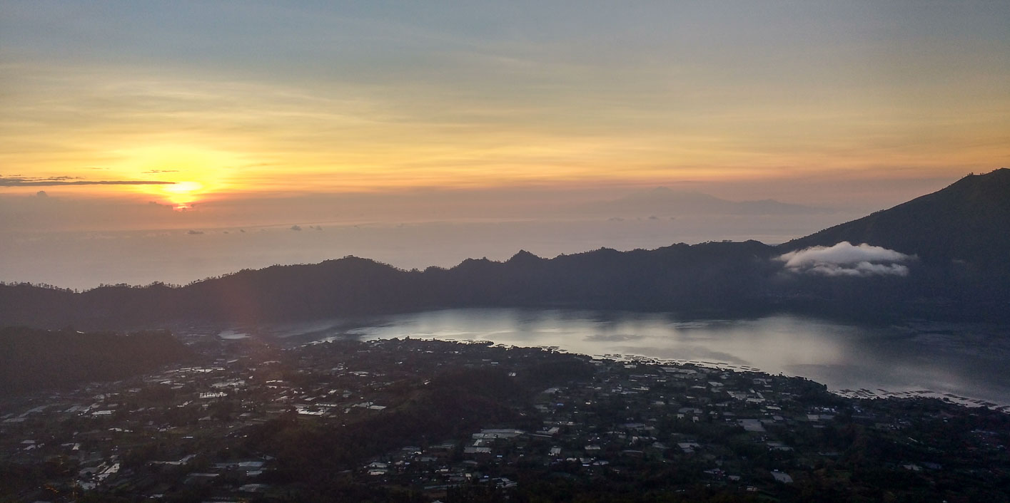 sunrise at mt batur volcano best hike bali 7 days