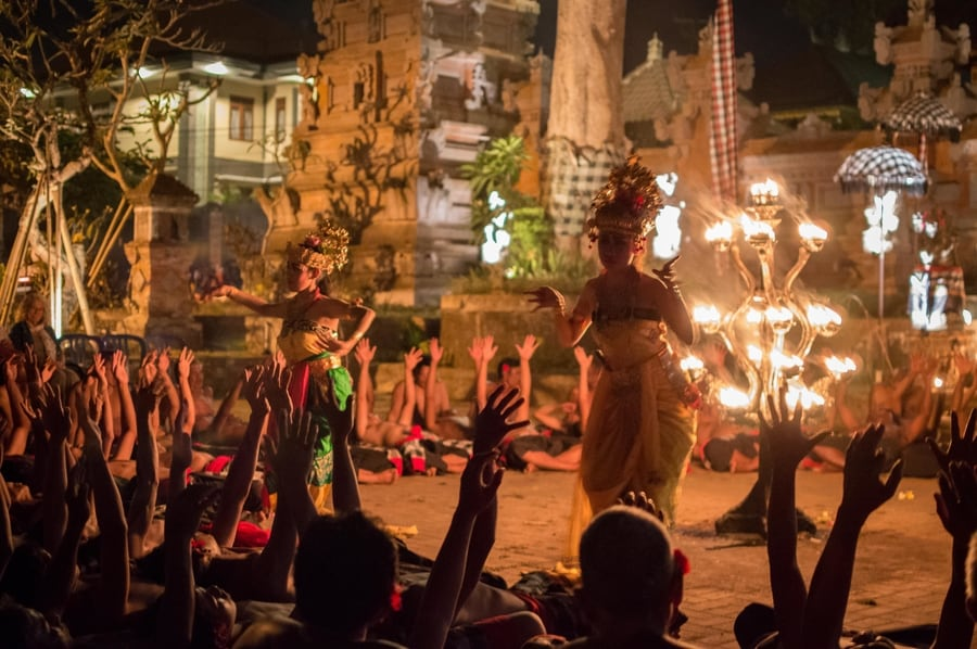 Attend a kecak fire and trance exhibition is one of the most popular things to do in ubud bali
