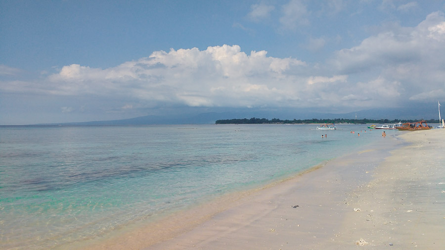 Snorkeling in one of the best beaches in gili island indonesia