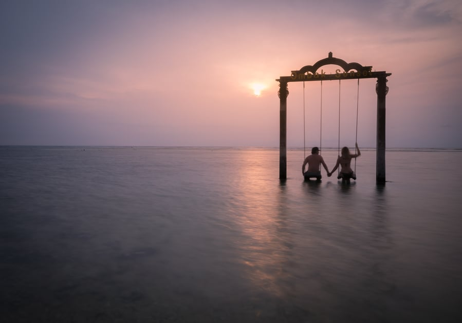 swing of gili trawangan best places to see it sunset bali indonesia