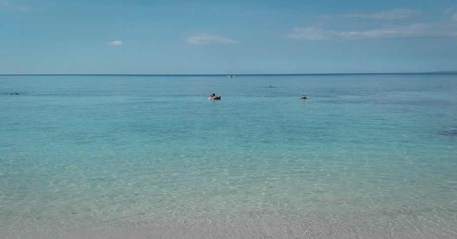 best beach for snorkel in gili trawangan