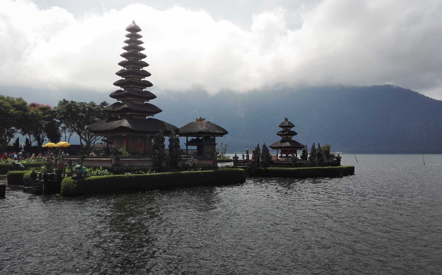 Pura Ulun Danu Temple on Lake Batran in Bali Indonesia