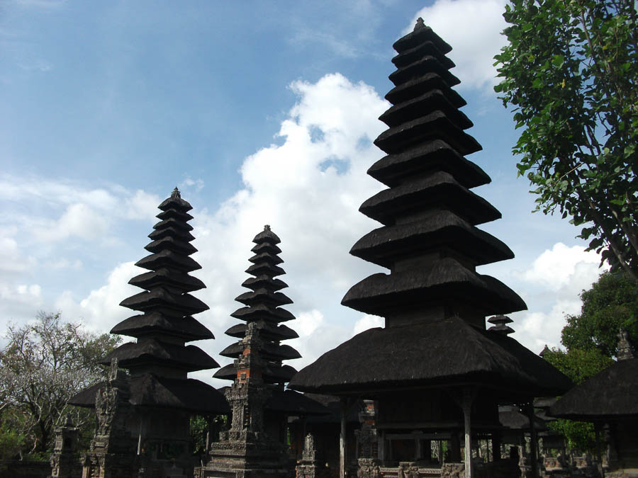 Things to do in Bali in 7 days. Pagodas at Taman Ayun Temple in Bali Indonesia