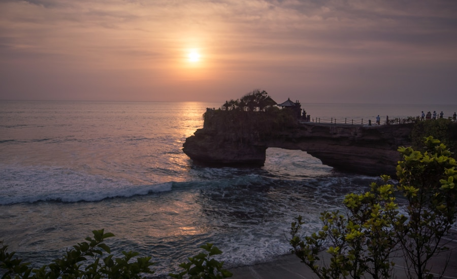 Pura Batu Bolong near to Tanah Lot. Best Bali one-week itinerary
