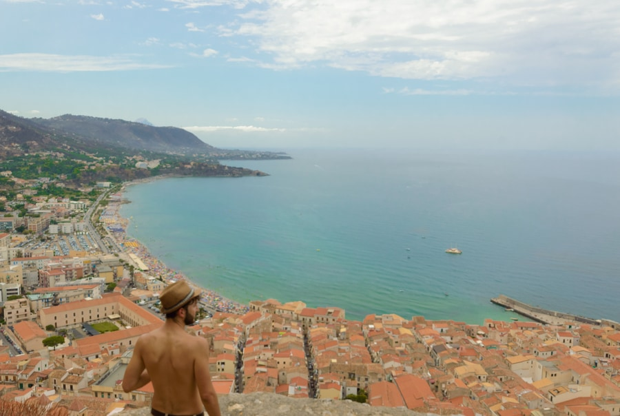 Cefalú seem from the Rocca things to do in cefalu in one day