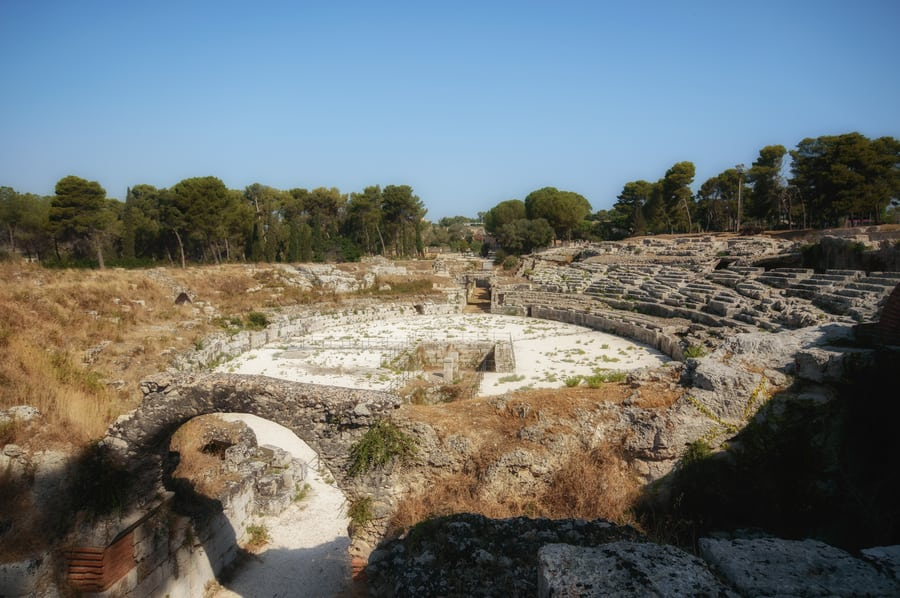 Greek Amphitheater Syracuse Sicily Italy top things to do in syracuse in one day
