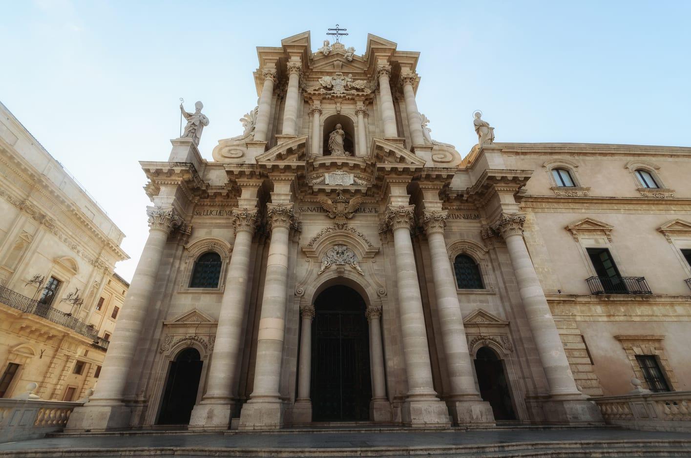 Duomo di Syracuse restaurants in Ortigia Sicily Italy