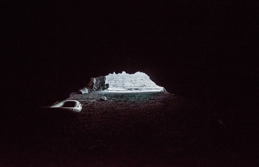 Interior of the Grotta di Eolo Stromboli Sicily Italy where to stay in stromboli in one day