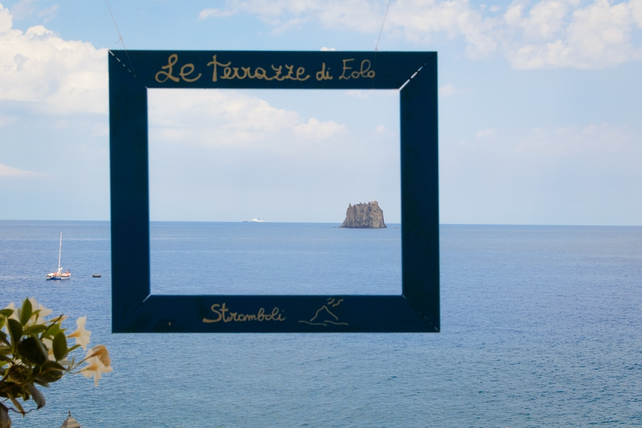Views from Le Terrazze di Eolo Stromboli Sicily Italy best restaurants in stromboli in one day