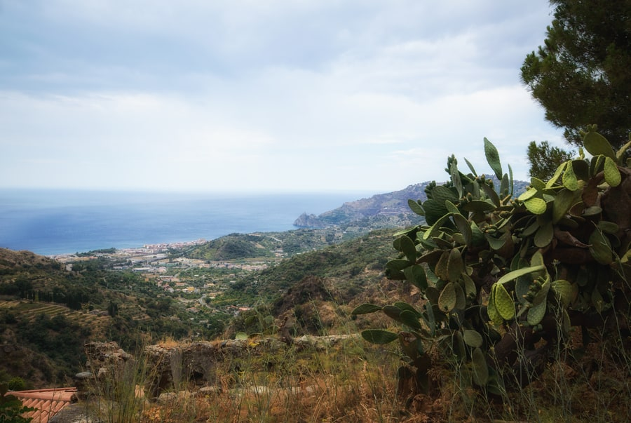 Sea views from Savoca Sicily Italy must see savoca