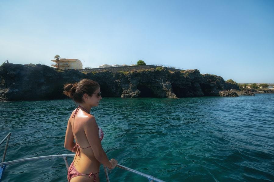 Polyphemus Cave Boat Aci Trezza Sicily Italy