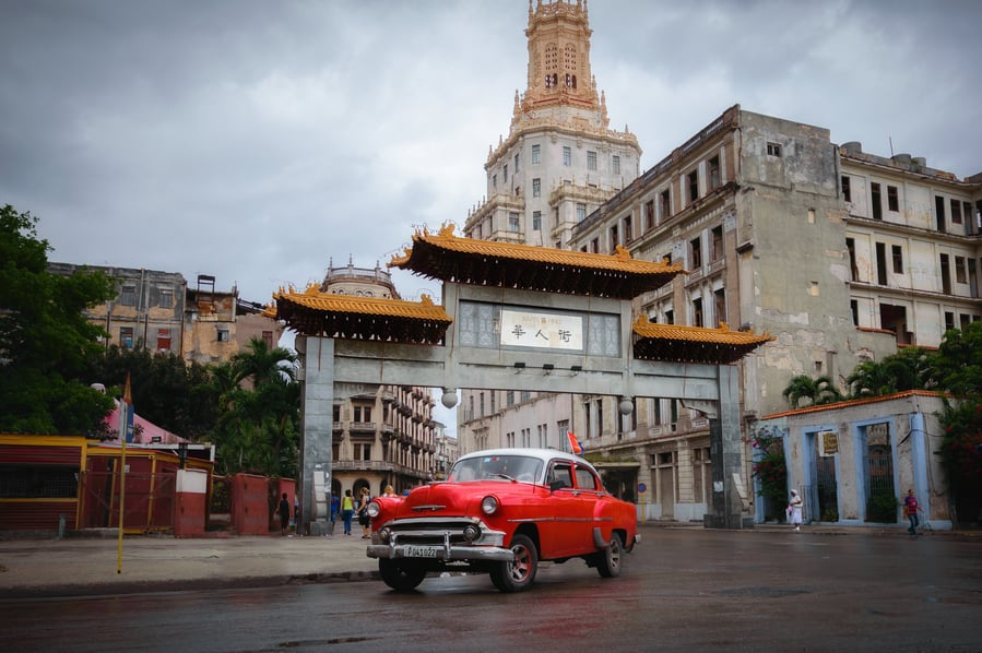 china town of havana pagoda cuba