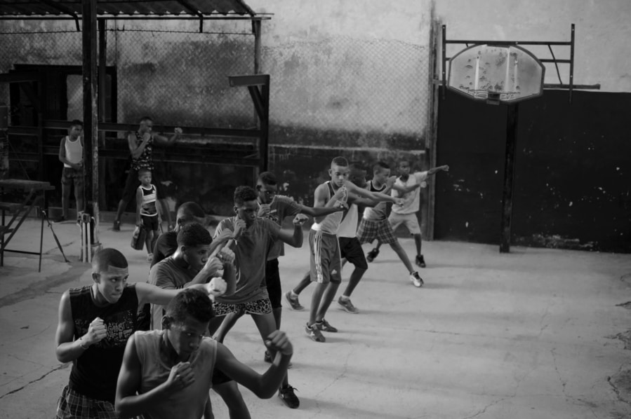 Boxing training in Rafael Trejo gym Havana Cuba