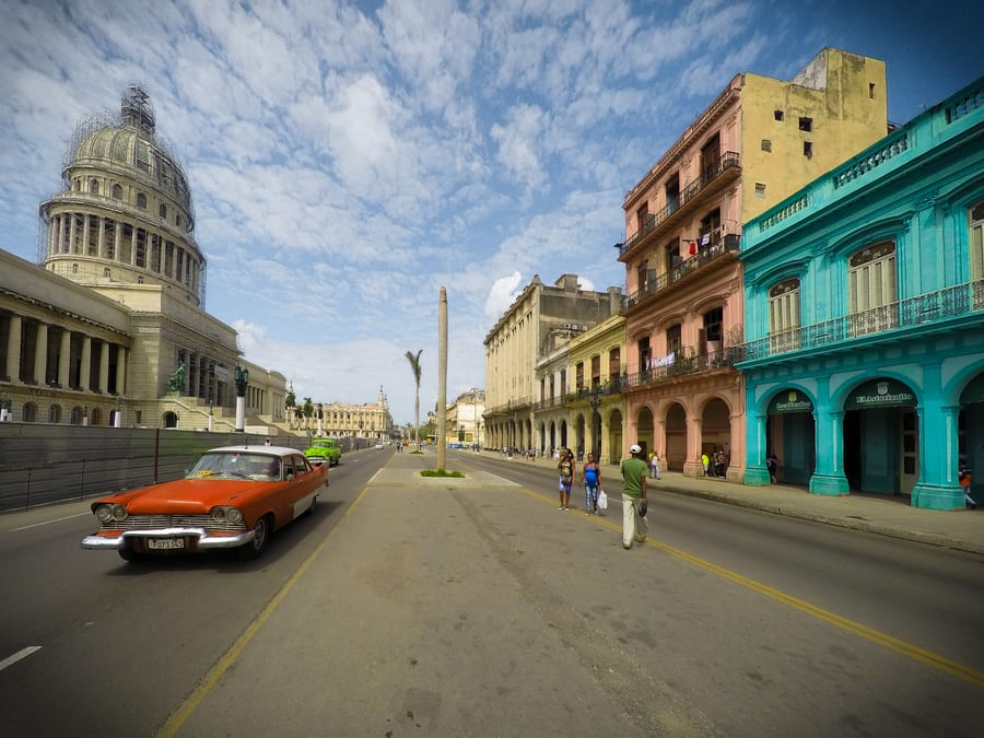 Things to do in Havana. The Capitol of Havana colorful houses Cuba