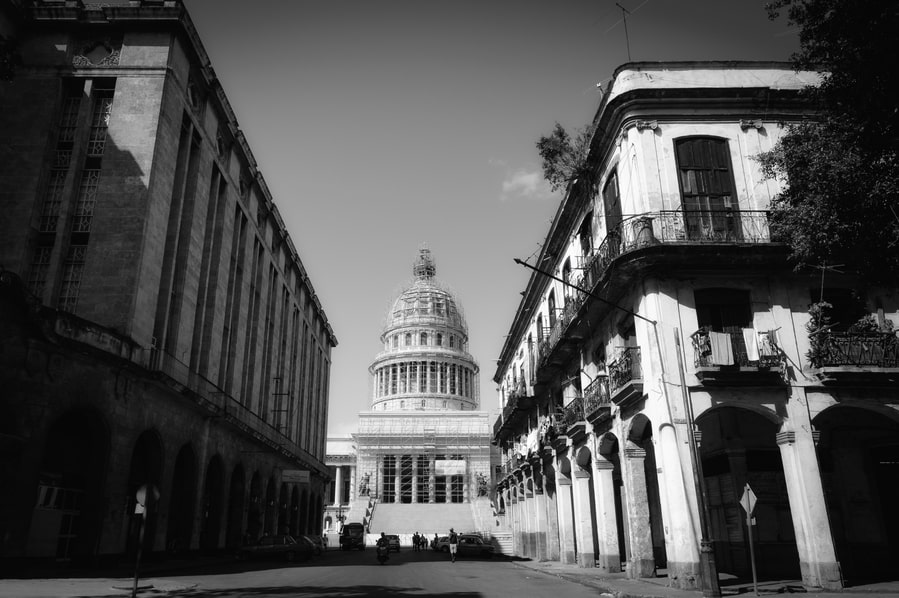 The capitol black and white Havana Cuba. Things to do in Havana