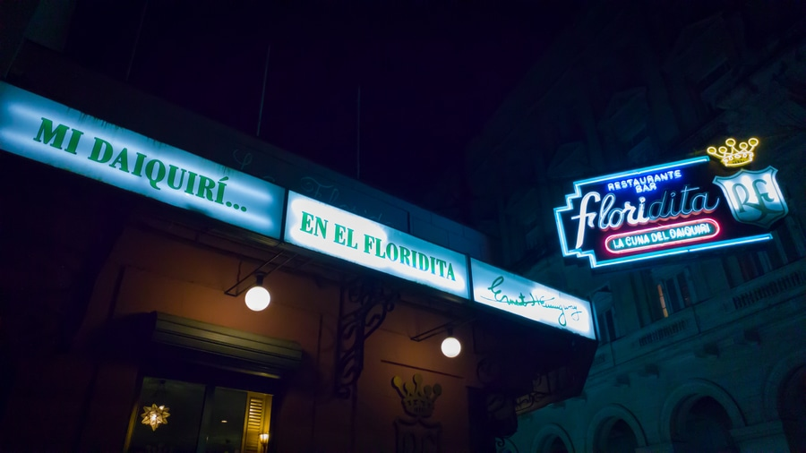 El Floridita Havana Cuva. Top things to do in Havana.