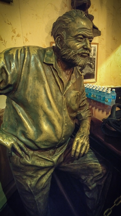 Top things to do in Havana. Statue of Ernest Hemingway in El Floridita Cuba Havana