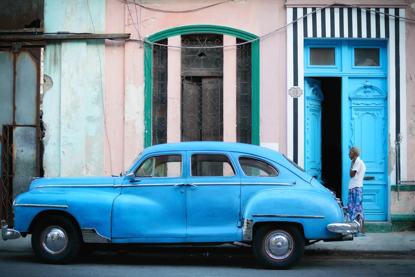 blue car havana things to do in Cuba in 15 days