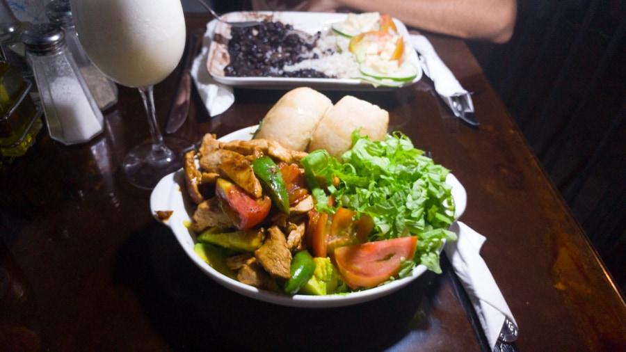 Nuestro menu en el Chanchullero cuba habana