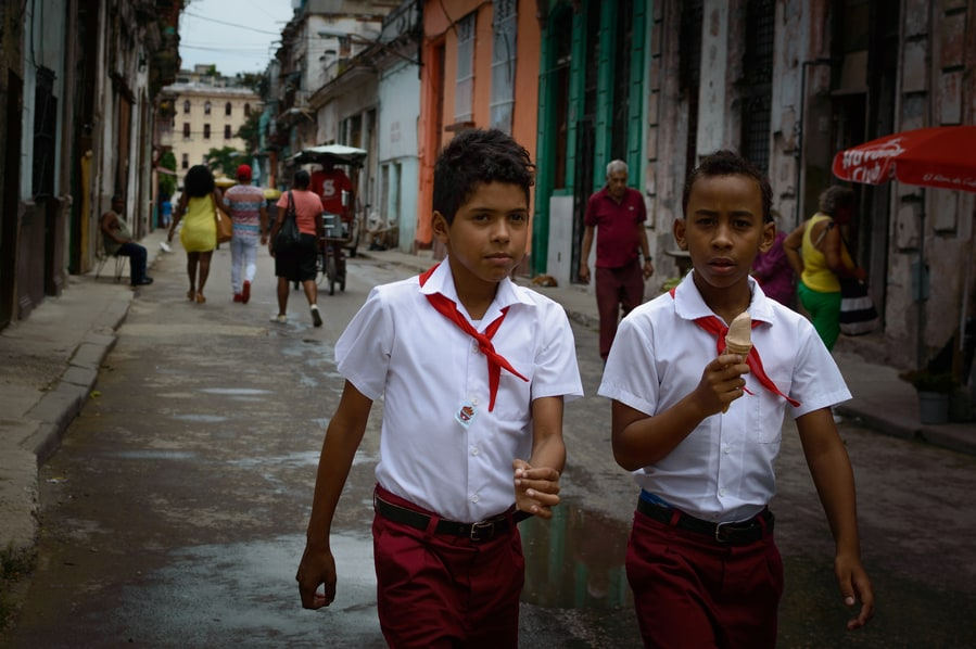 Children leaving school uniform guide to top things to do in Cuba
