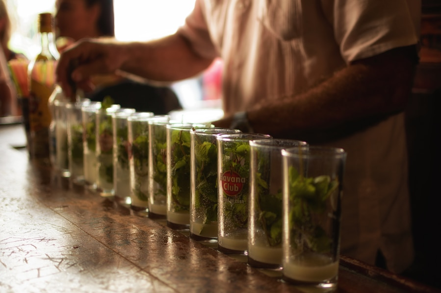 Preparation of mojitos in La Bodeguita del Medio Cuba Havana. Guide to top things to do in Havana
