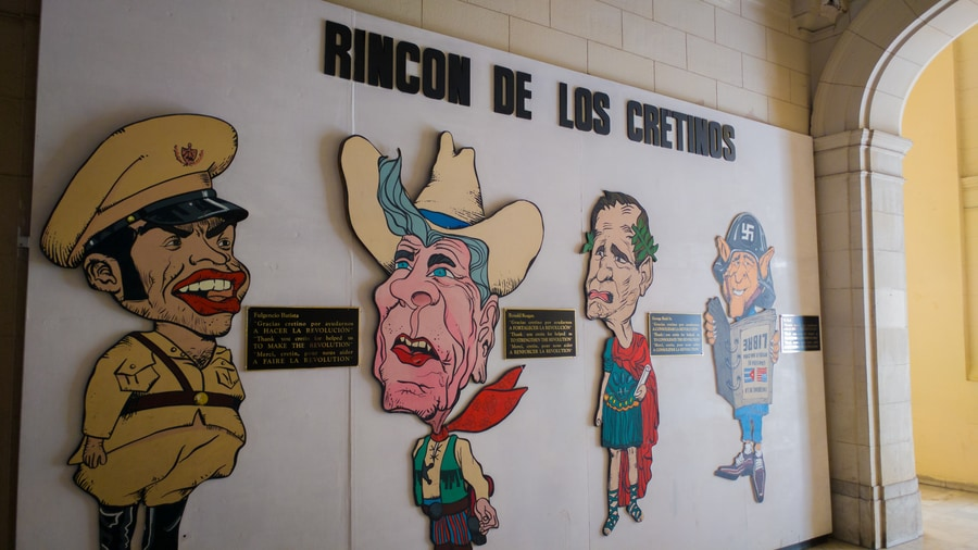 Corner of the Cretins in the museum of the revolution Havana Cuba