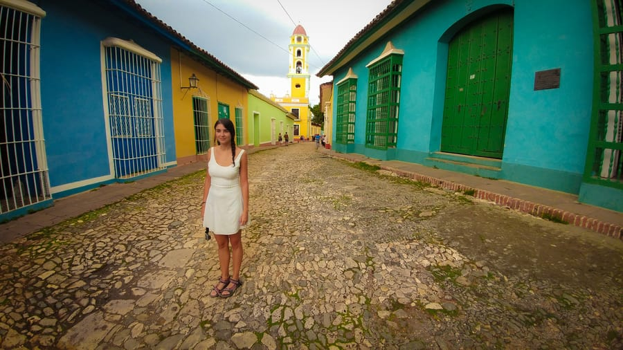 amargura colorfull street trinidad cuba old town