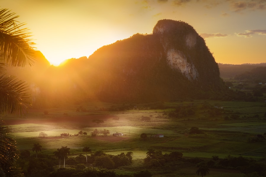 sunrise at the aquatics viñales cuba in 4 days