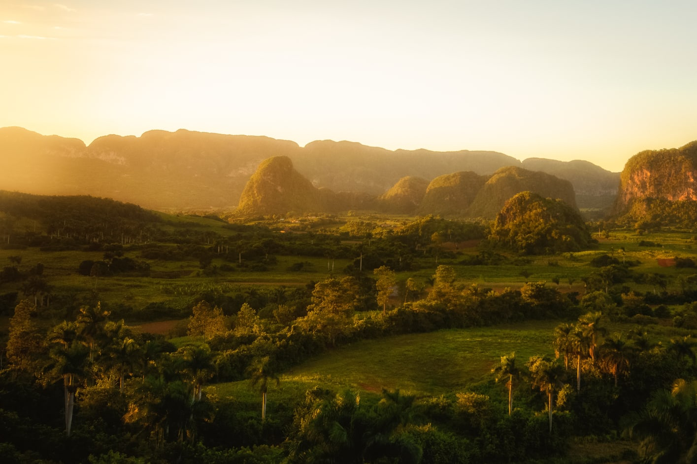 sunset from the hotel los jazmines top things to do in viñales cuba