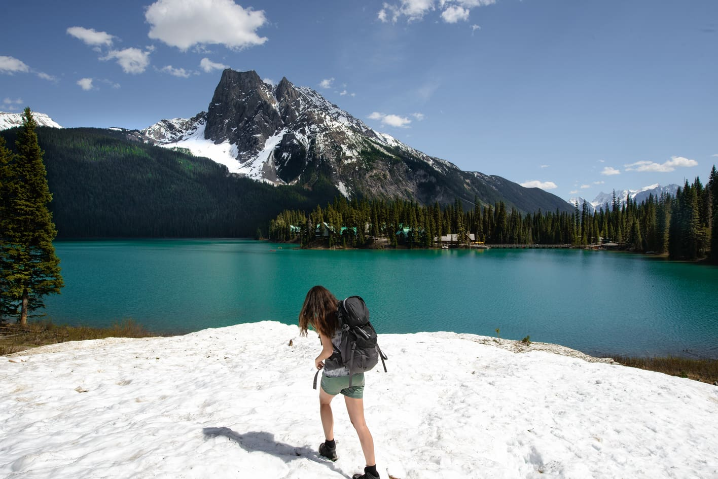 emerald lake in a day for backpackers canada yoho