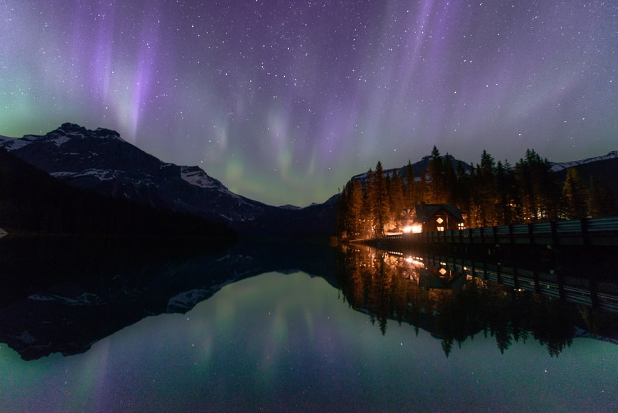aurora borealis british columbia yoho national park emerald lake top things to do in the canadian rockies itinerary in two weeks in 15 days. Western Canada trip and Vancouver