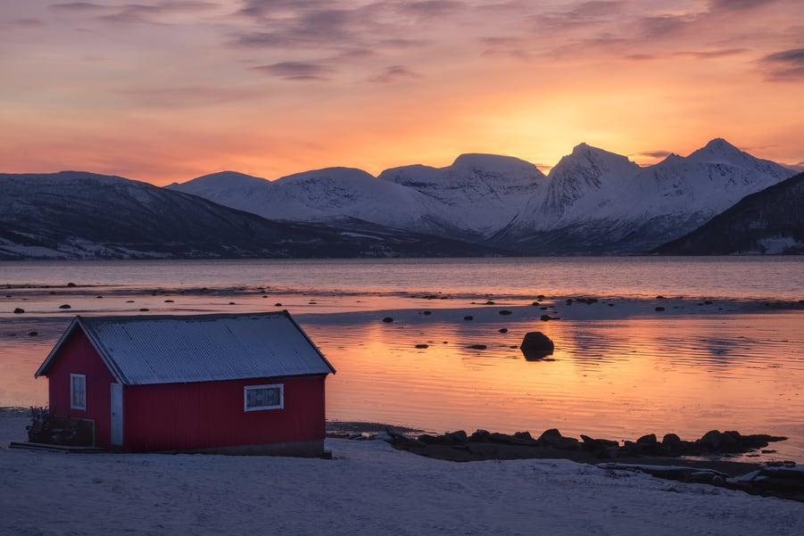 Tromso to Lofoten Islands travel route