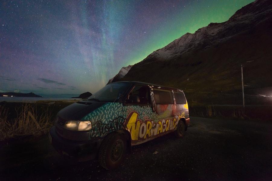 rent a camper van in lofoten island