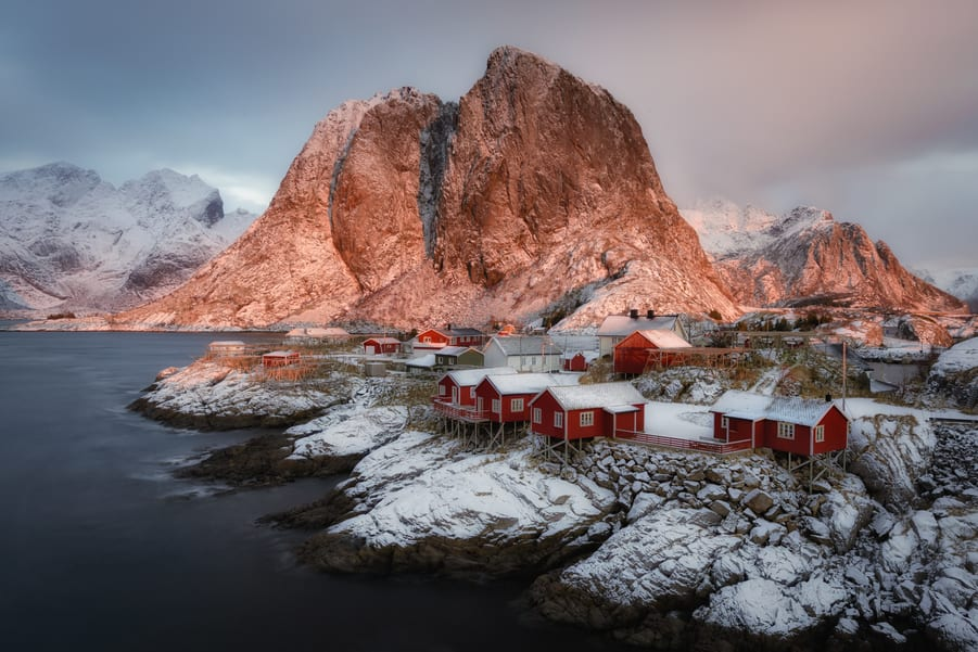 "Hamnøy magical sunrise - <a href=""https://capturetheatlas.com/lofoten-photo-tour/"">Lofoten Islands.</a> Norway."