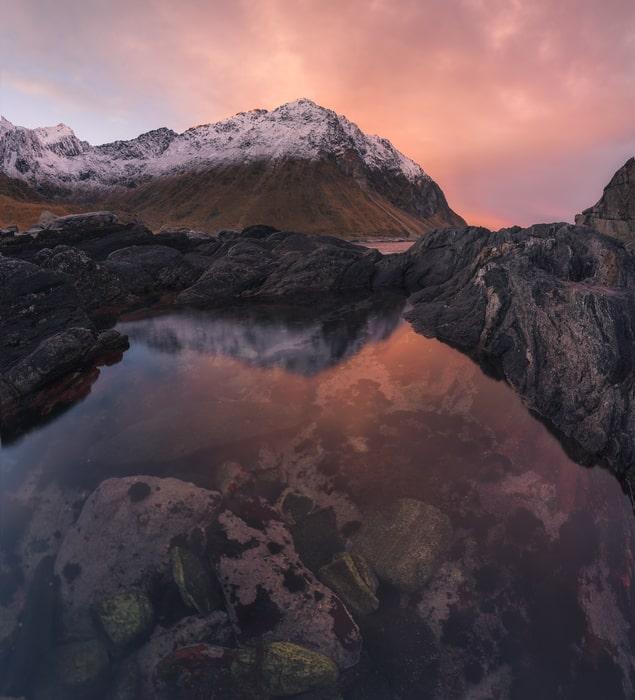 """Bloody Fishbowl - <a href=""""https://capturetheatlas.com/es/viaje-fotografico-lofoten/"""">Islas Lofoten.</a> Noruega."""