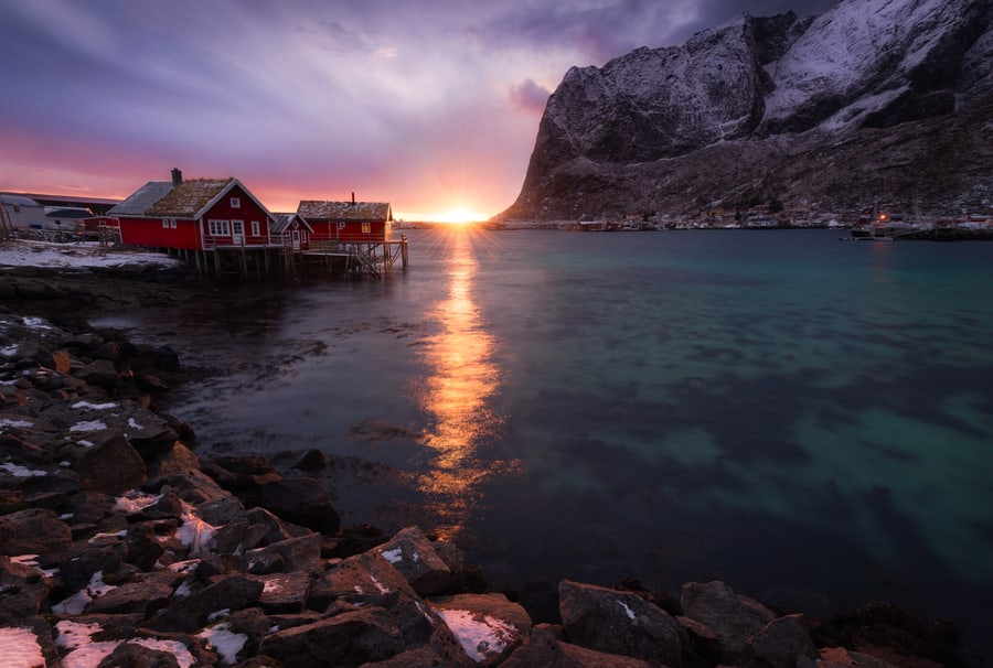 "Lofoten Solstice - <a href=""https://capturetheatlas.com/lofoten-photo-tour/"">Lofoten Islands.</a> Norway."