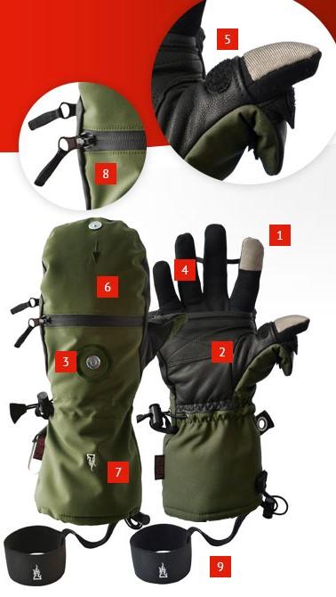 mejores guantes para fotografiar en paises frios