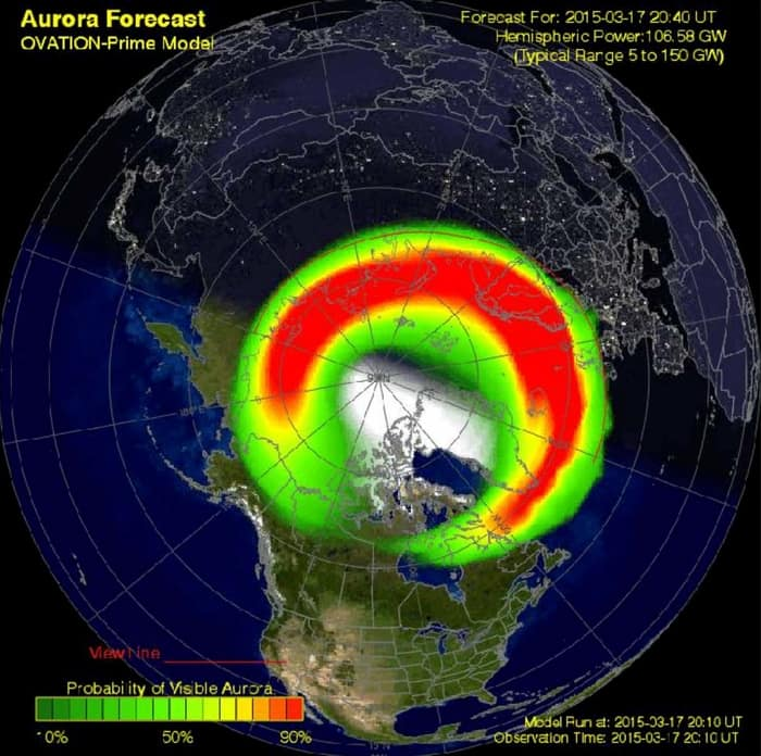 Best time to see Northern Lights Auroral Oval