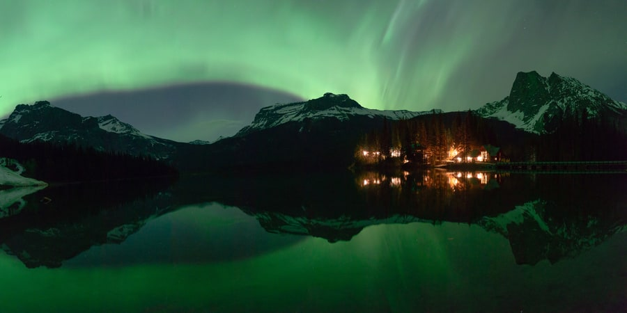 Northern lights appearance on the sky