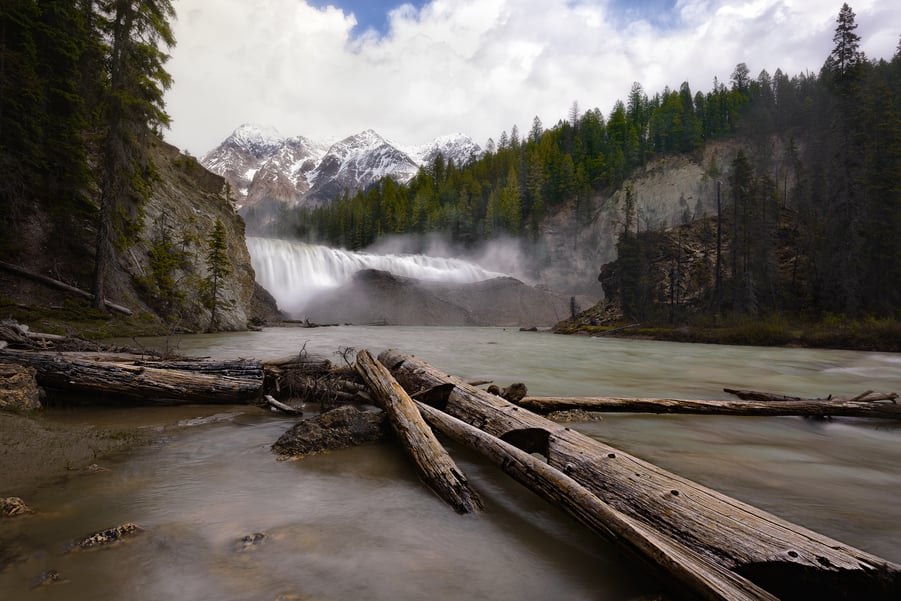 "Wapta Strenous falls - <a href=""https://capturetheatlas.com/things-to-do-yoho-national-park-canada/"">Yoho National Park.</a> <a href=""https://capturetheatlas.com/canadian-rockies-road-trip-15-days/"">Canada.</a>"