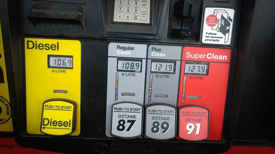 gas price at icefields parkway
