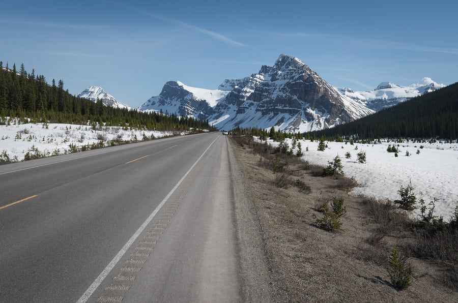 icefields parkway most scenic drive road