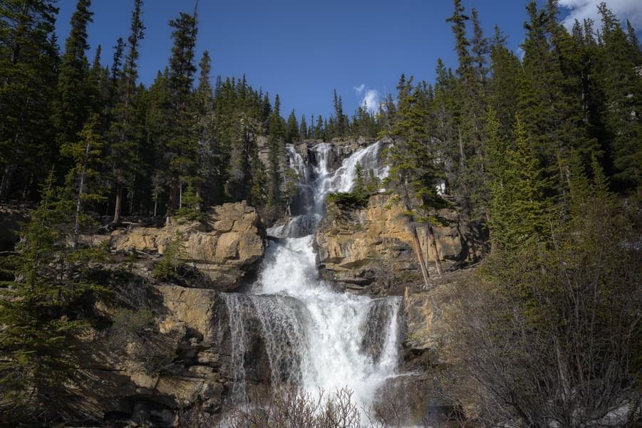 tangle creek falls travel guide icefields parkway